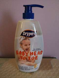 [Brand New] Drypers Baby Head to Toe 750ml