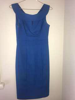 Blue review dress