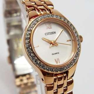 Citizen Women's EJ6143-59A Quartz Rosegold Steel Watch 西鐵城女裝石英玫瑰金鋼錶