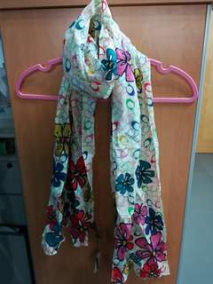 New Coach Bloosom Cotton Long Scarf Twilly