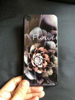 iPhone 7 / iPhone 8 Tempered Glass Flower Case