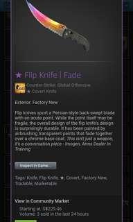 Flip knife 98% fade