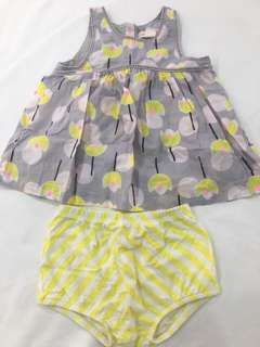 Size (0) dress & bloomers