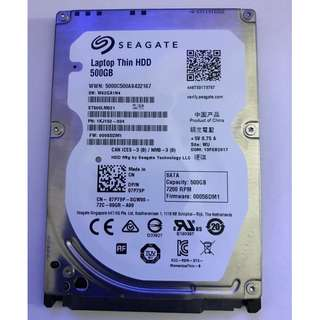 "Seagate Laptop Thin HDD 500GB 7200RPM 2.5"""