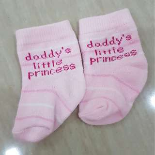 1 pair Design Baby Socks - Daddy's Little Princess