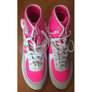 全新 Chanel 型格粉紅高筒鞋 (Size: 36.5)