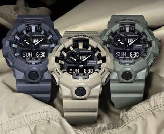 NEW🌟ARRIVAL in GSHOCK 200M DIVER SPORTS CASIO WATCH : 1-YEAR OFFICIAL WARRANTY: 100% Originally Authentic G-SHOCK Resistant in ARMY MILITARY RAINFOREST in Absolutely Toughness Best For Most Rough Users : GA-700UC / GA-700 / GA700 / GA700UC