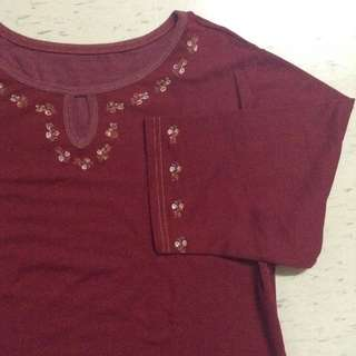 Plus size top red