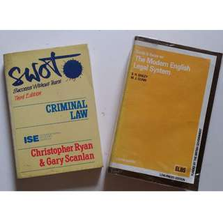 Law Books (2 Books)