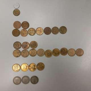 【錢幣收藏】南韓舊硬幣 (全套)