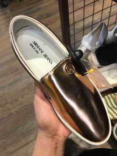 Armani rosegold shoes