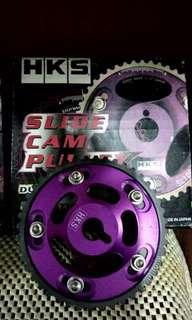 Hks cam pulley lighten alloy purple version