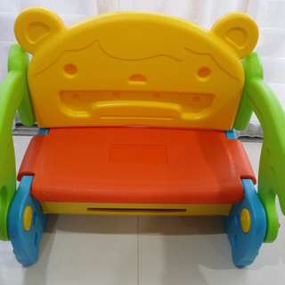 Convertable toddler bench to table and chair