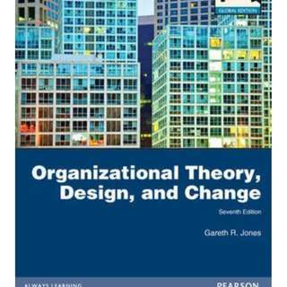 Organization Theory, Design n Change 7th Edition