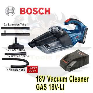 [NEW] BOSCH GAS 18V-1 LI-ION CORDLESS VACUUM CLEANER