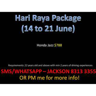 Hari Raya Package from $788 onwards, for 14-21 June