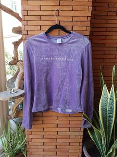 ARMANI EXCHANGE Velvet Sweater Purple