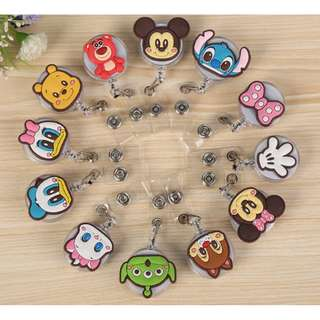 2 FOR $3.80 DISNEY RETRACTABLE KEY CHAIN*EZ LINK*CARD HOLDER*ROLLER*BADGE REEL*PULLY*RETRACTOR