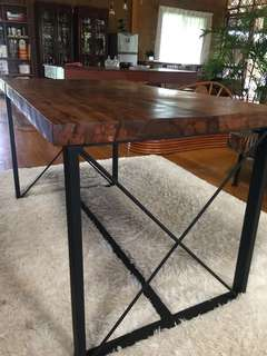 Dining table rustic modern design