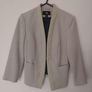 H & M collarless blazer