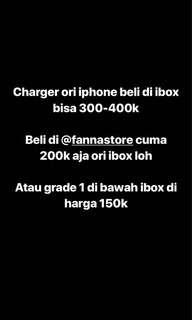 Charger iphone ori ibox