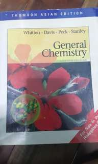 General Chemistry by Whitten, Davis, Peck, Stanley Thomson Asian Edition