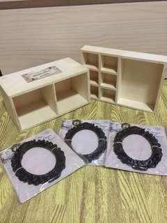 wooden frame wooden organiser