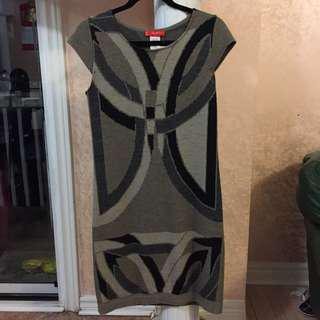 Wool made in Italy Gray Dress S