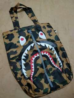 Bathing Ape Camo Shark Totebag