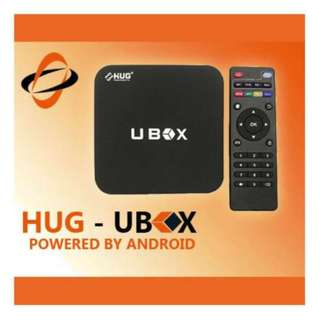 HD TV Box Android Media Player 4K WiFi LAN Quad Core Android Nougat 7.1.2 Smart Streaming (UBOX) - HUG HD TV Box