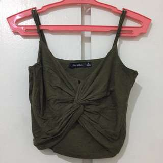BERSHK Strappy Knot Top