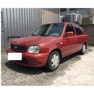 自售 2001年 日產 March 1.3 紅色