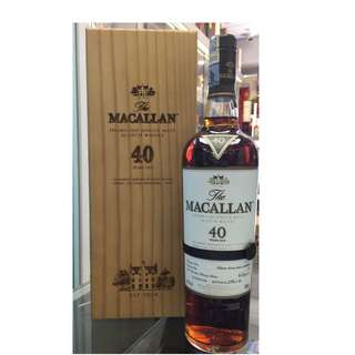 Macallan 40 Year Old 2016 Release (全球限量500支)