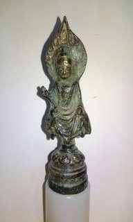古鎏金菩薩像