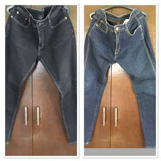 2 slightly used size 34 jeans