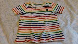 abma♡彩虹條紋針織上衣男女可穿衣長34cm