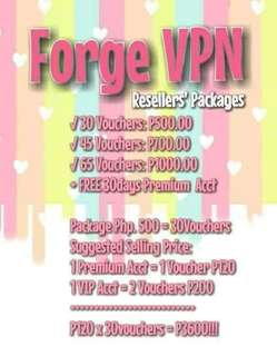 Forge Vpn resellers promo!! limited slots available.
