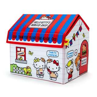 Japan Sanrio Hello Kitty House shape Storage Box