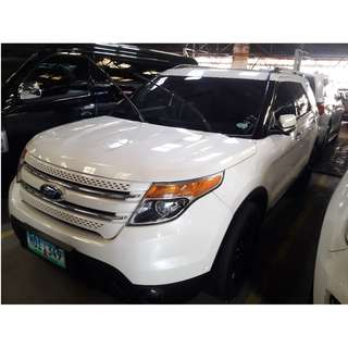 2013 Ford Explorer 3.5 V6 White AT Gas