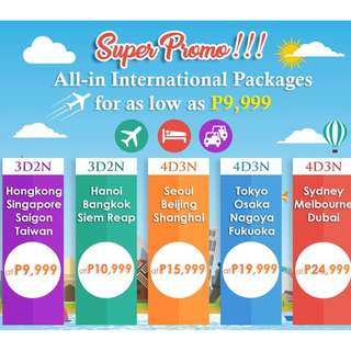 All-In Promo Packages via Cebu Pacific