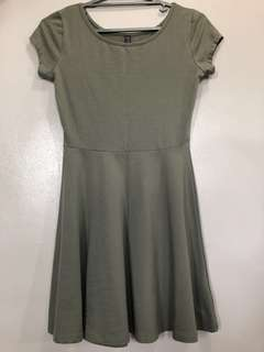 [COTTON ON] Army green skater dress small