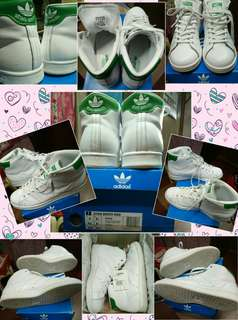 Adidas Originals Stan Smith MID, White/Green, Size 9