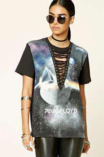 Lace-Up Pink Floyd Band Tee  From Forever 21 (shoelace shirt) #PayDay30