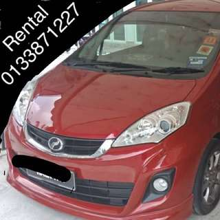 Perodua Alza SE For Rent