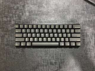 Vortex Pok3r Non LED w/ Cherry MX Clears.