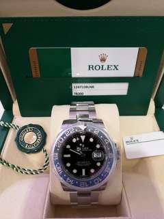 ROLEX 116710 blue 全新