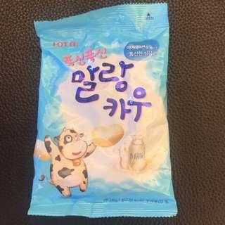 🚚 韓國樂天原味牛奶糖