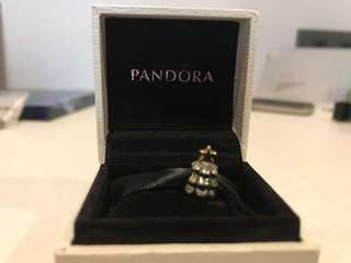 Pandora 14 carat and sterling silver xmas charm