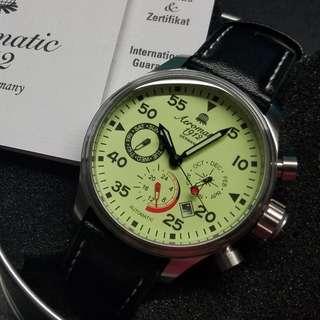 Aeromatic 德國飛行腕錶 (夜光小三針 - A1419)