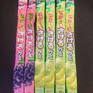 日本UHA味覺糖撕撕軟糖 葡萄/哈密瓜
